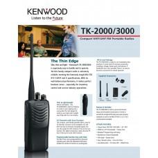 Kenwood TK-3000 Analog Walkie Talkie UHF
