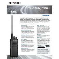Kenwood TK-D340 Digital/Analog Walkie Talkie UHF
